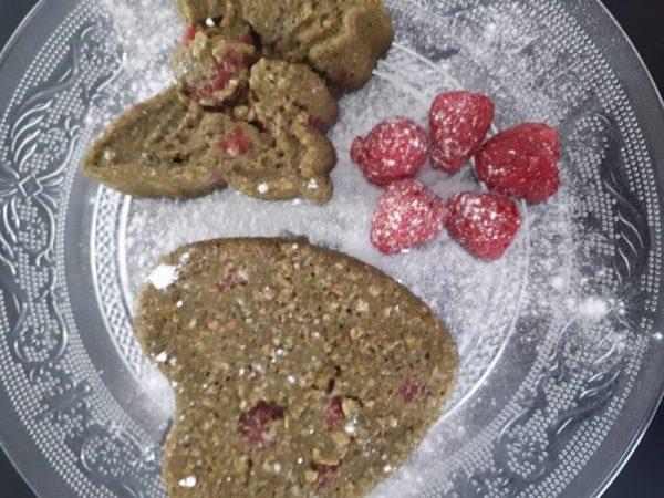 Recept frambozen ontbijtcake met matcha