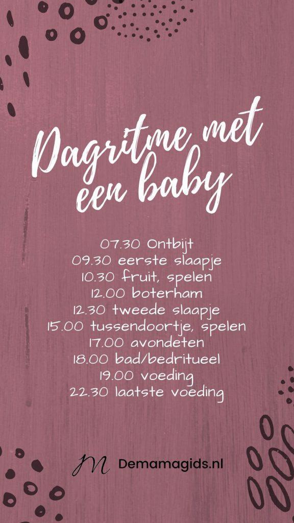 Dagritme met een baby