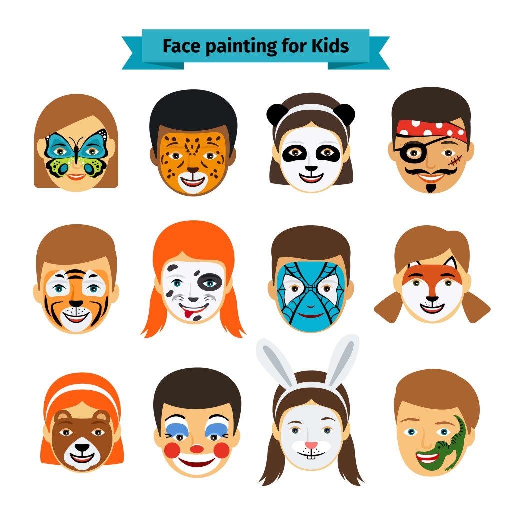 voorbeelden om kinderen te schminken