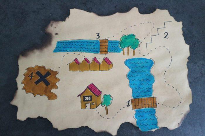 DIY schatkaart speurtocht voor kleuters
