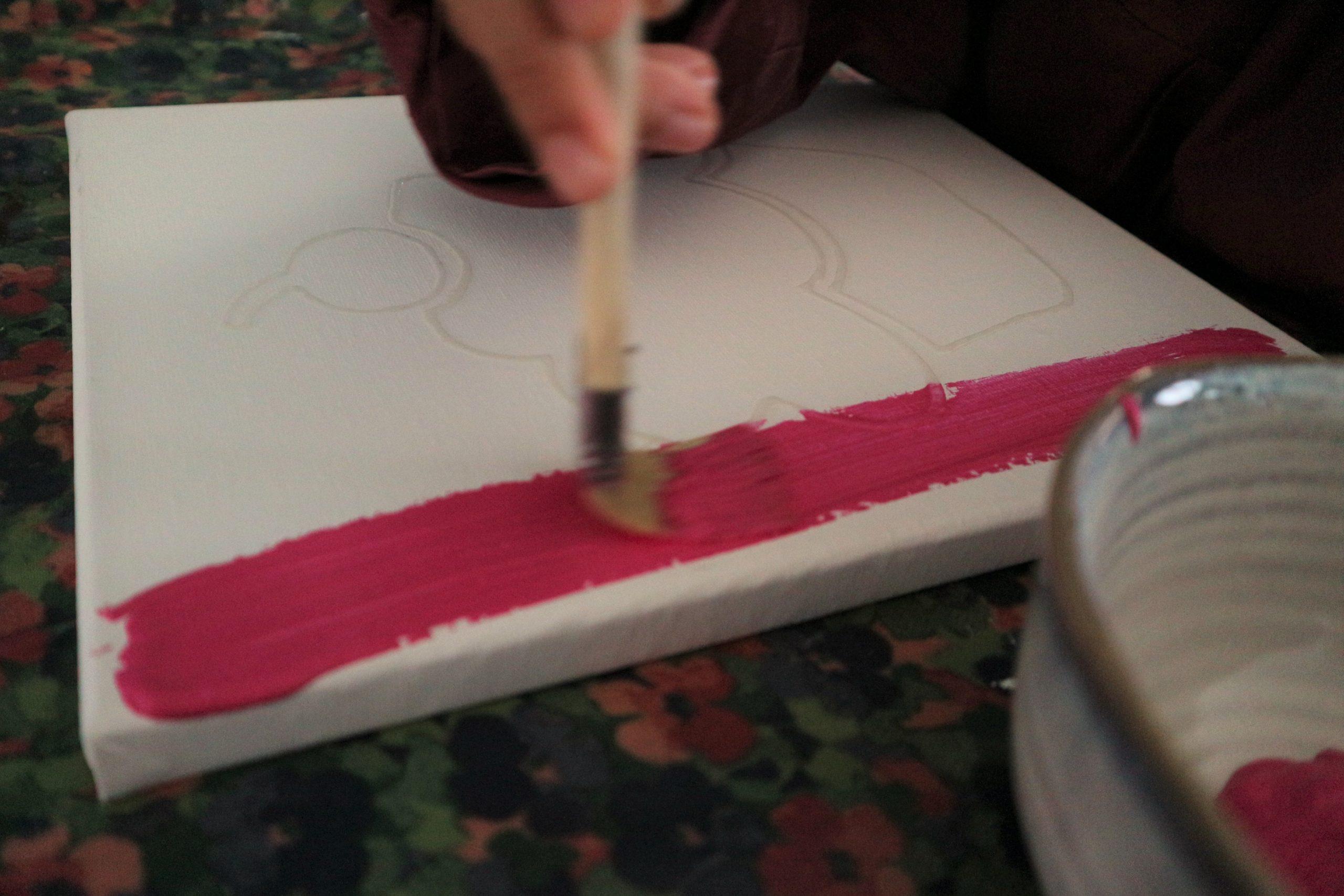 canvas schilderen glitterbaas