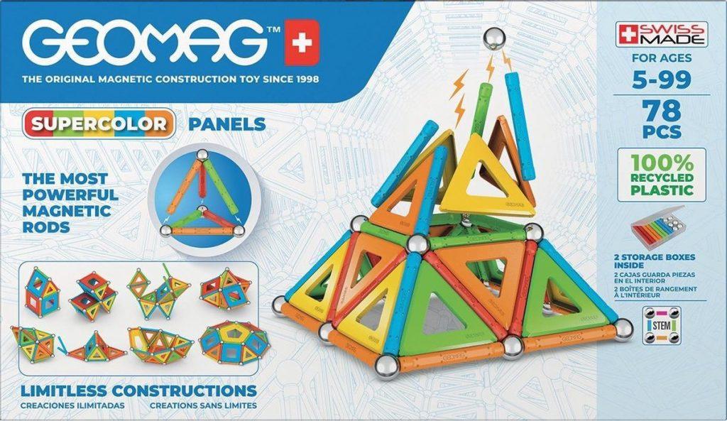 Speelgoed van het jaar 2021 6-7 jaar GEOMAG super color recycled selecta